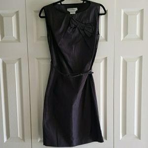 Max Mara Black Sleeveless Shift Dress w Bow 4